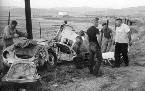 James Dean Porsche crash scene