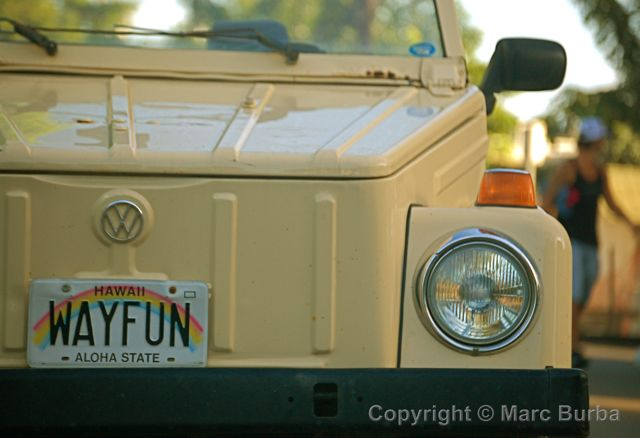 VW Thing license plate Maui