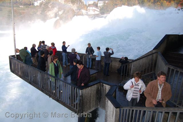 Rhine Falls viewing platform