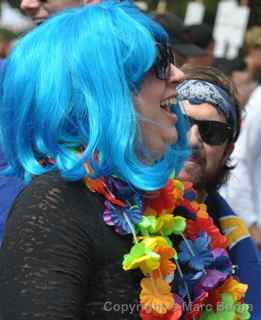 AIDS Walk 2012 San Francisco blue wig