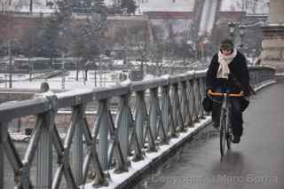 Chain Bridge bicyclist