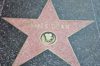James Dean hollywood walk of fame star