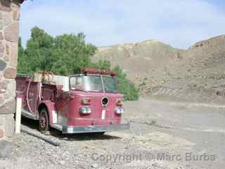Death Valley fire truck