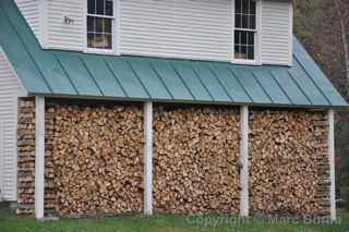 chopped wood Woodstock Vermont