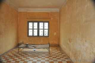 Tuol Sleng Genocide Museum cell, Cambodia