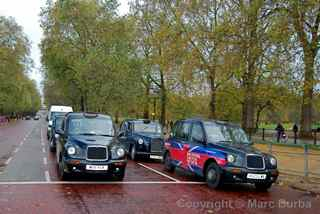 London cabs Green Park