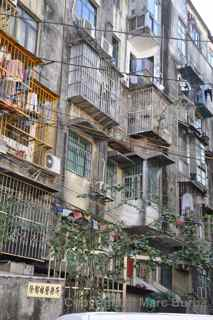 Macau apartment balconies