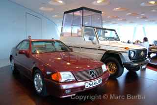 1991 500SL once owned by Princess Diana, Mercedes-Benz Museum, Stuttgart, Germany