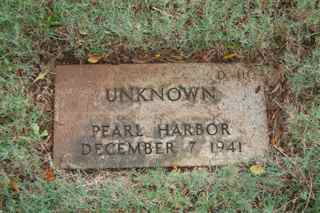 Pearl Harbor unknown grave