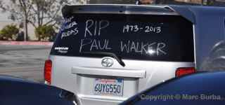 Paul Walker Memorial Meet window writing