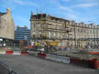 Edinburgh tram construction