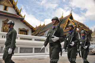 Grand Palace soldiers, Bangkok, Thailand