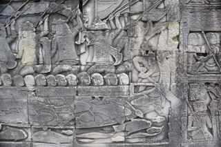Angkor Thom bas relief battle gallery