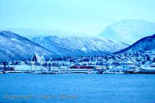 Tromso winter blue light